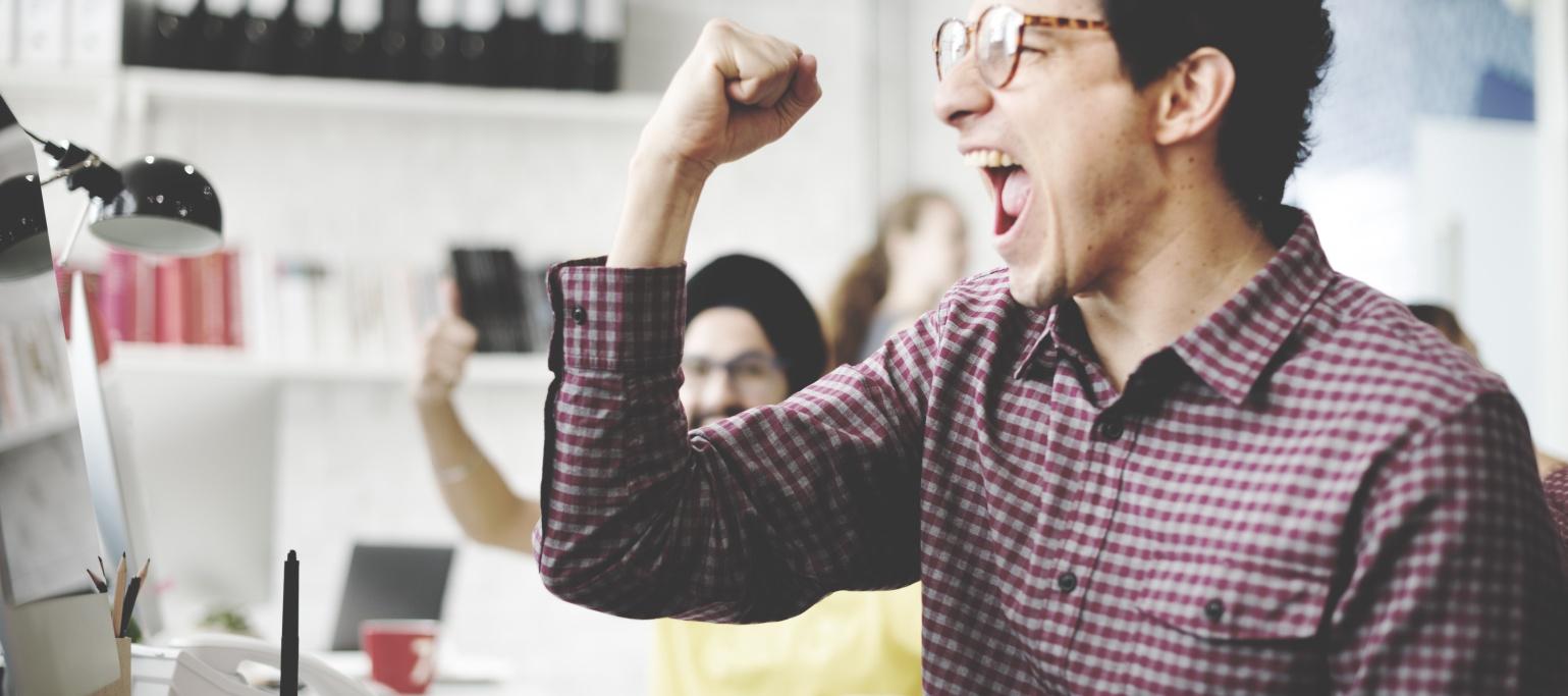 People Celebration Success Working Successful Concept
