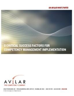 Critical Success Factors Cover Page